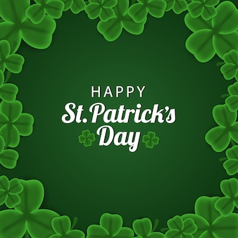 Green shamrock clover leaf st. patrick's day