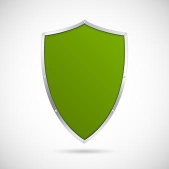 緑の盾のアイコン。
