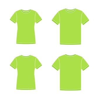 Green short sleeve t-shirts templates