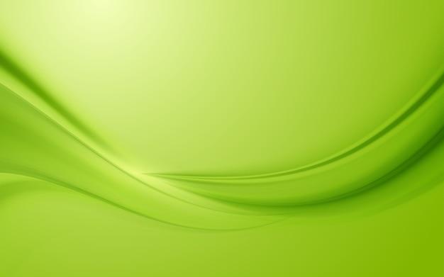 Green silk satin background smooth wave texture background