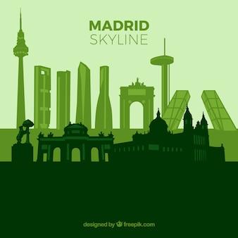 Green skyline of madrid