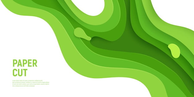 Green slime abstract background waves layers.