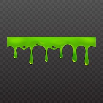 투명 한 배경에 고립 된 녹색 점액