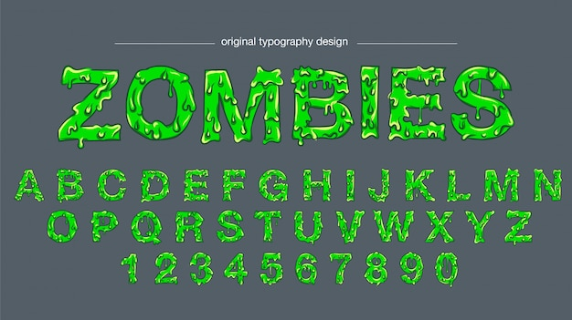 Green slime typography design