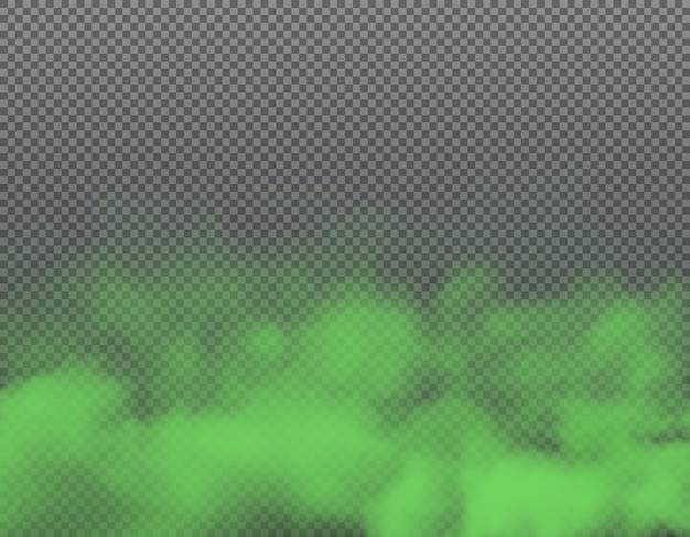 Green smoke or bad smell clouds