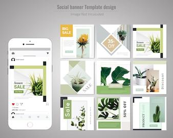 Green Social Media Post Template