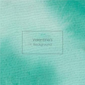 緑の柔らかい手描きバレンタイン水彩背景