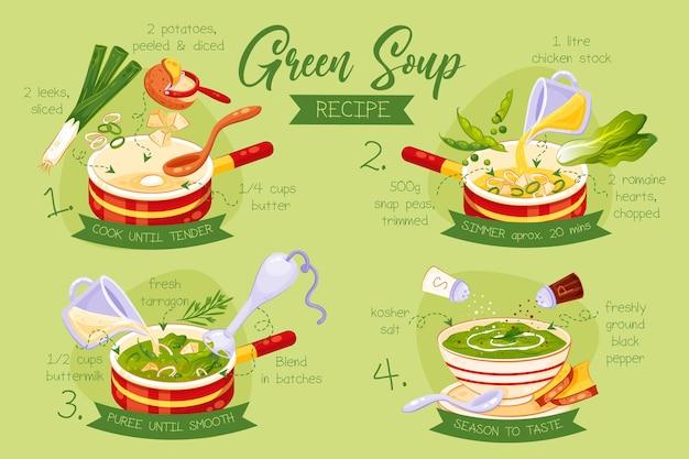 녹색 수프 레시피