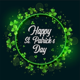Green st patricks day frame background