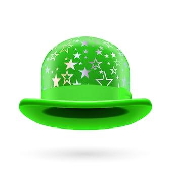 녹색 별표 중산 모자