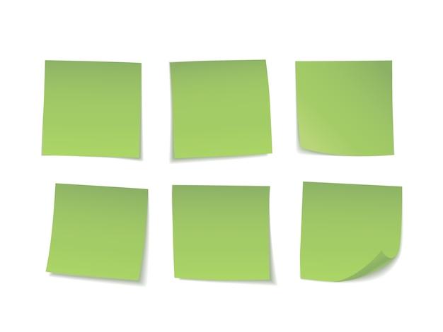 Green sticky notes set