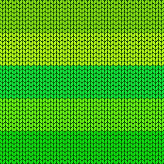 Green striped knitted background Premium Vector