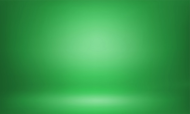 Green studio backdrop 3d room lightbox background