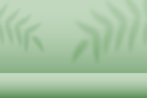 Studio verde con pavimento espositivo