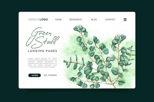 Pagina di destinazione di roba verde