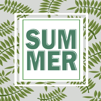 Зеленый летний тропический фон с экзотическими пальмовыми листьями и растениями. цветочный фон вектор.