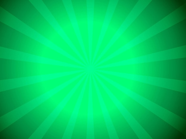Green sunburst beam explosion vector background