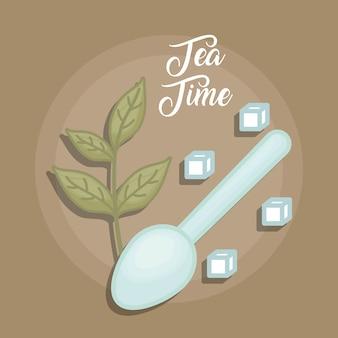 Green tea leaves with crystal sugar