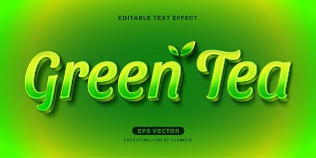 Текстовый эффект зеленого чая
