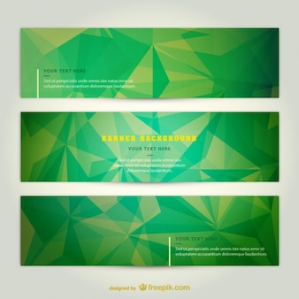 Green techno banners