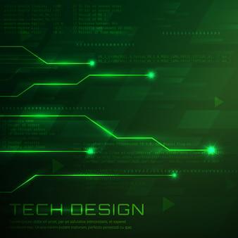 녹색 기술 배경 디자인