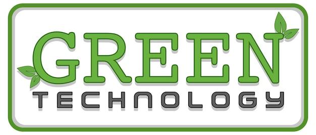 A green technology sign banner