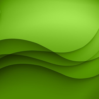Green  template abstract background with curves lines and shadow. for flyer, brochure, booklet, websites