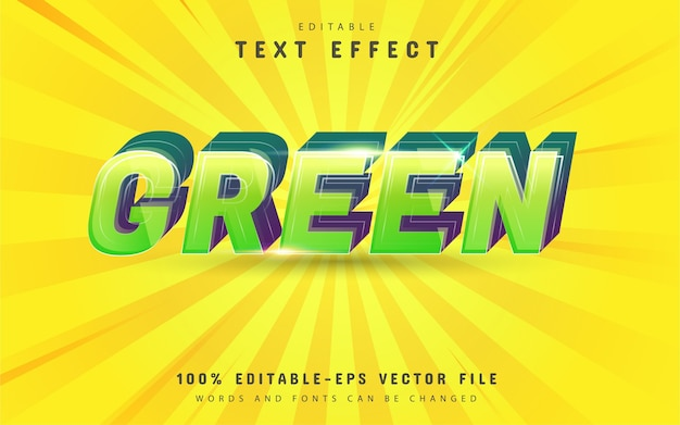 Green text effect design