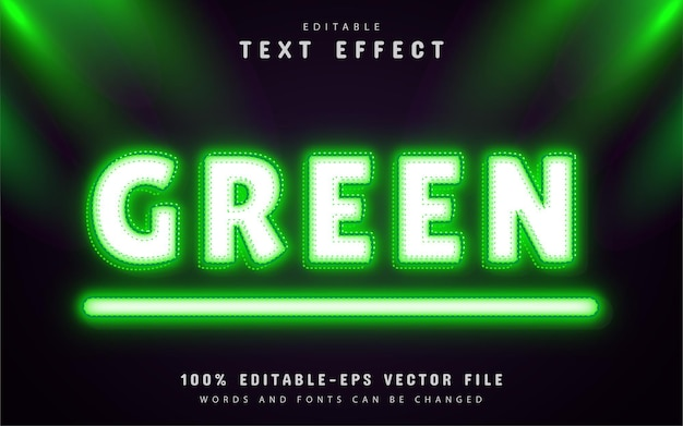 Green text effect neon style