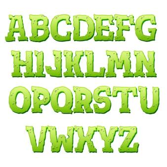 白い背景の上の緑のテキスト効果