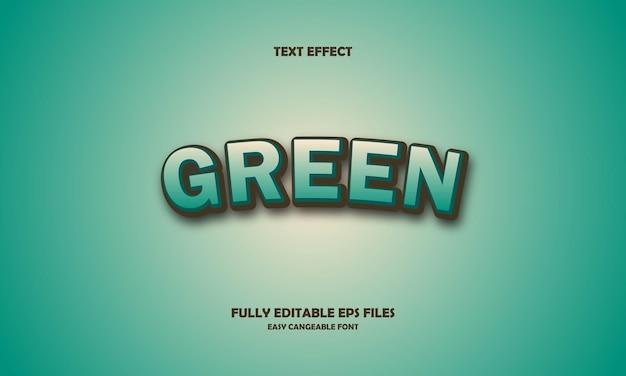 Green text effect