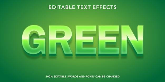 緑のテキストスタイルの編集可能なテキスト効果