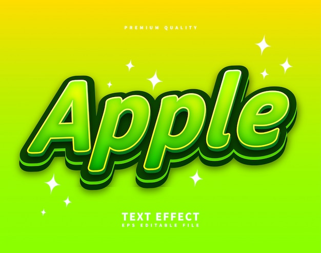 Green text style uppercase font