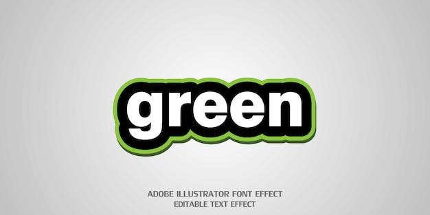 Современный алфавитный шрифт green text style, редактируемый эффект