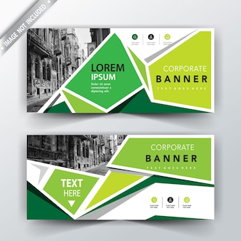 Green tone banner card