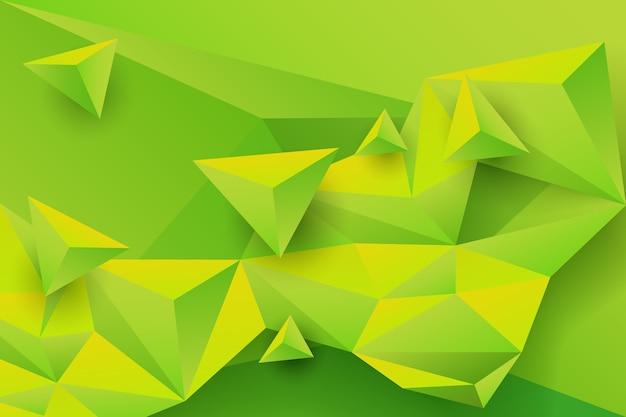 Зеленый треугольник фон с яркими цветами