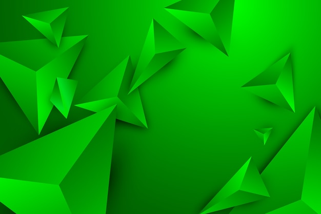 Green triangle background with vivid colors