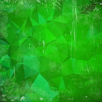 緑色の三角形(幾何学模様)