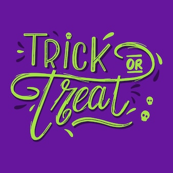 Green trick or treat lettering