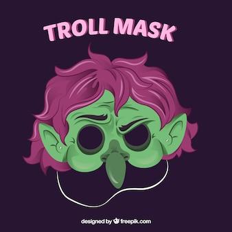 Зеленая тролльная маска