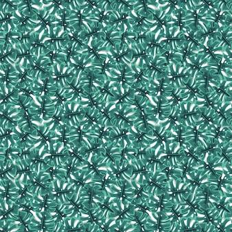 Green tropical jungle seamless pattern