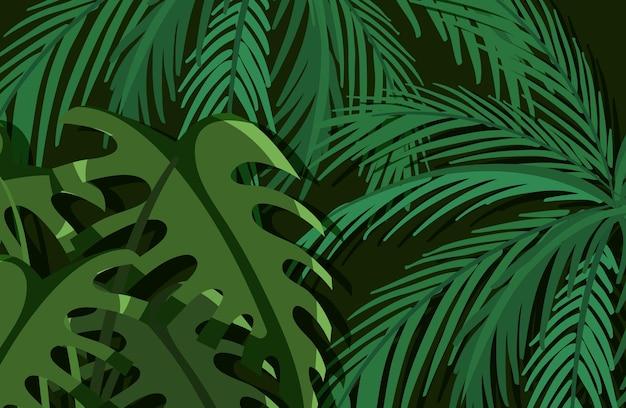 緑の熱帯の葉の背景