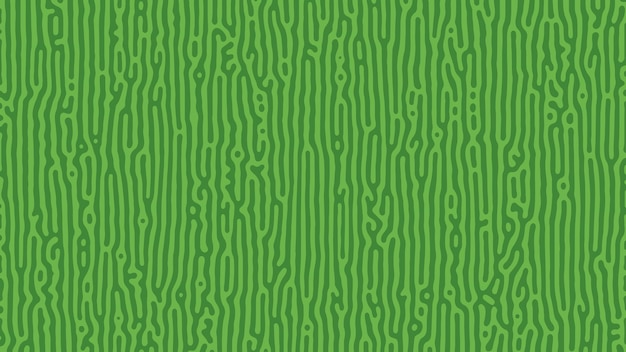 Green turing reaction background. abstract diffusion pattern with chaotic shapes. vector illustration.