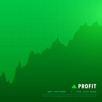 Green uptrend market