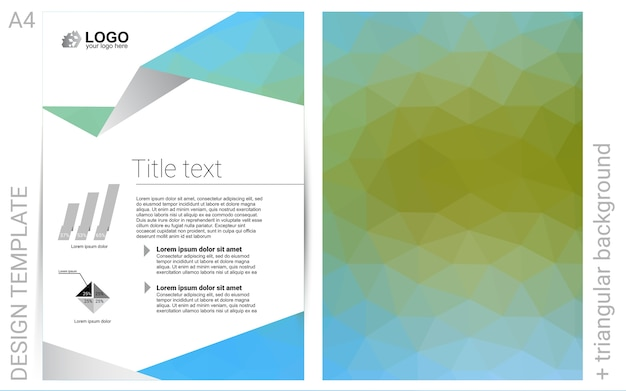 Green vector  pattern for posters