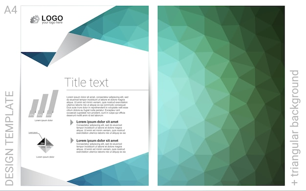 Green vector template for landing pages