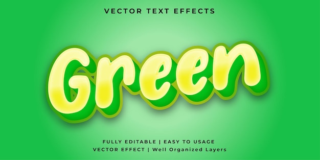 Зеленый векторный текстовый эффект