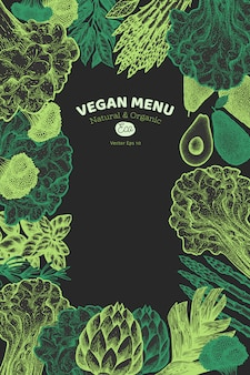 Green vegetable design template