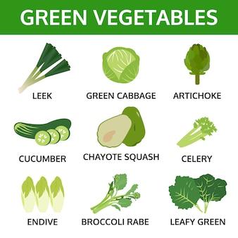 緑の野菜コレクション2