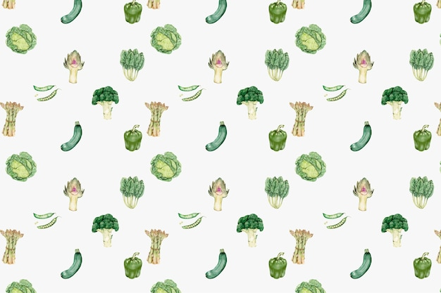 Green vegetables pattern vector